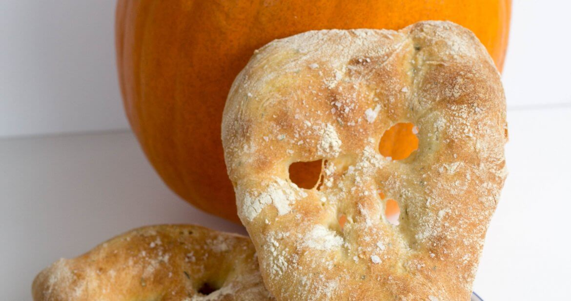 Haloween fougasse bread