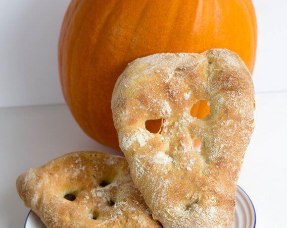 Spooky Fougasse Bread