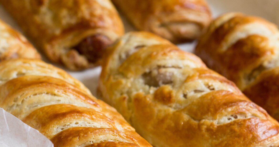 sausage roll cooked
