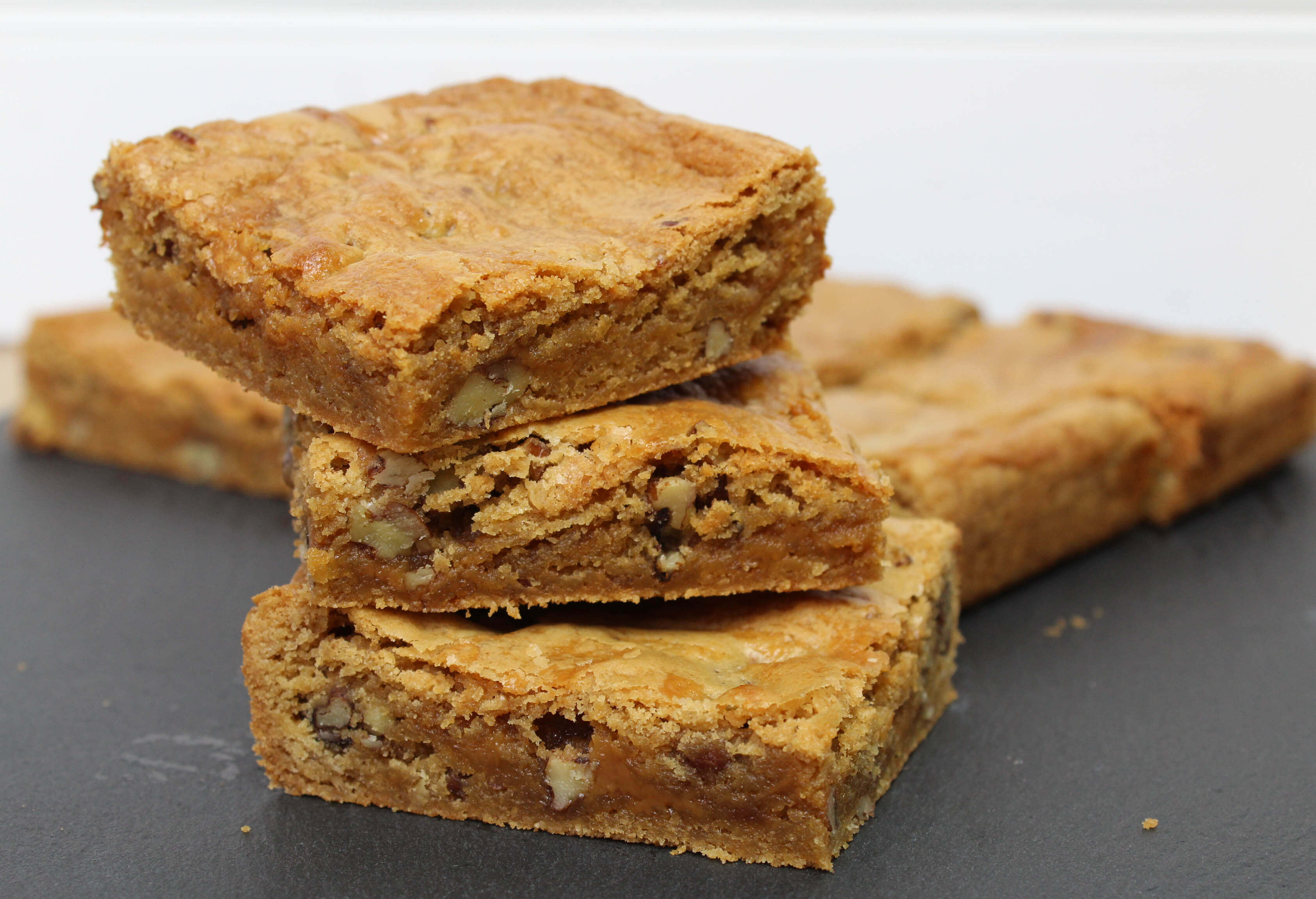 Salted Caramel and Pecan Blondies