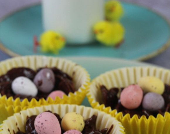 Easter Chocolate Cornflake Nests