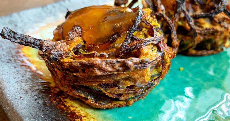 Healthy onion bhaji